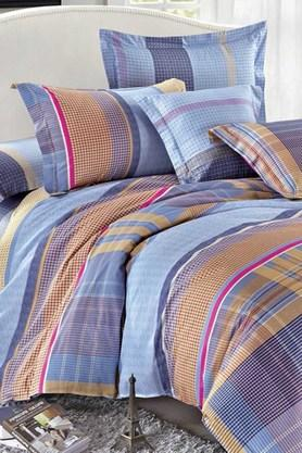 STOA PARIS Multi Colour 200 TC Sateen Bedlinen (Bedsheet Set (King)