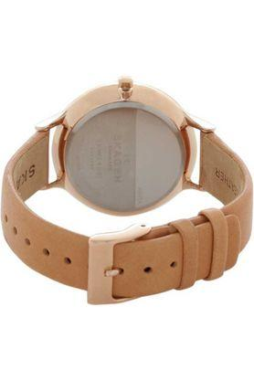 Womens White Dial Leather Analogue Watch - SKW2405l