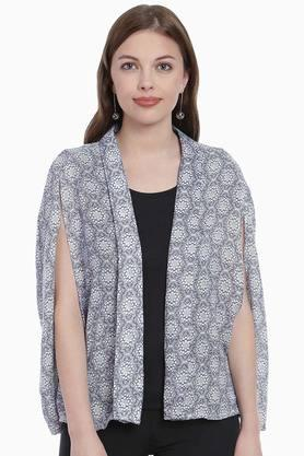 ZINK LONDON Womens Open Neck Printed Shrug