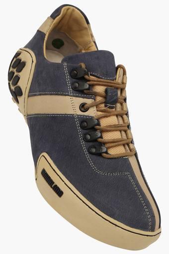 Mens Nubuk Print Lace Up Casual Shoe
