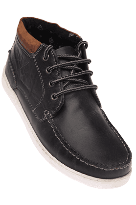 RED TAPEMens Blue Leather Casual Lace Up Shoe