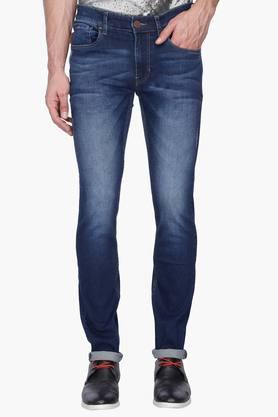 U.S. POLO ASSN. DENIMMens Skinny Fit Heavy Wash Jeans (Regallo Fit)