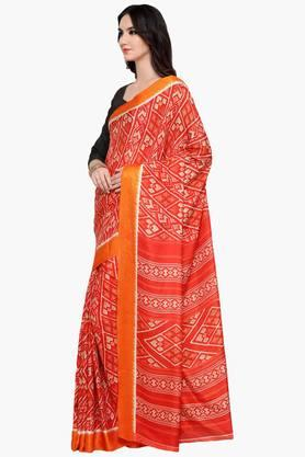 Womens Art Silk Saree with Blouse Piece