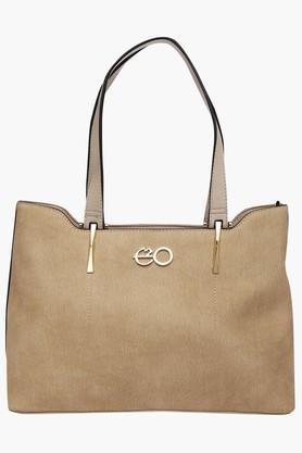 E2OWomens Zipper Closure Shoulder Bag