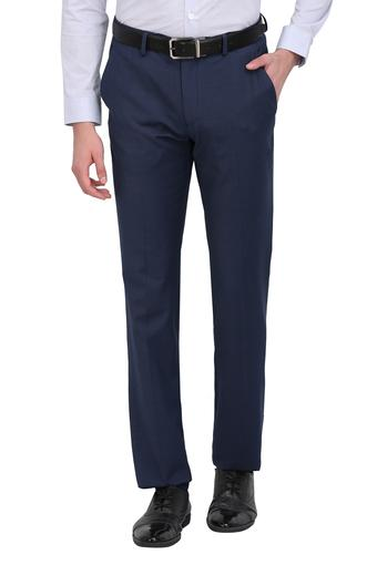 LOUIS PHILIPPE -  Mid Blue Cargos & Trousers - Main