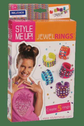 Girls Jewel Ring with Rhinestones Set