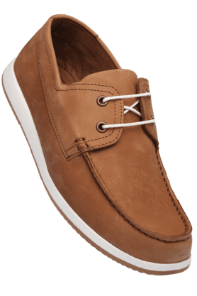 LOUIS PHILIPPE Mens Tan Leather Slipon Casual Shoe