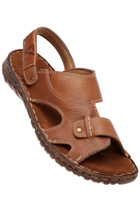 VETTORIO FRATINI Mens Tan Leather Sandal