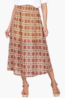 ZINK LONDON Womens Printed Midi Skirt