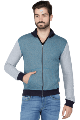 UNITED COLORS OF BENETTONMens Full Sleeves Slim Fit Printed Jacket
