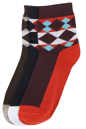 VETTORIO FRATINI Mens Printed Socks Pack Of 3 - 200133432_9900