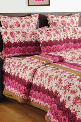 SWAYAM Floral Pattern Single Bed Sheet With Pillow Covers - 202469687