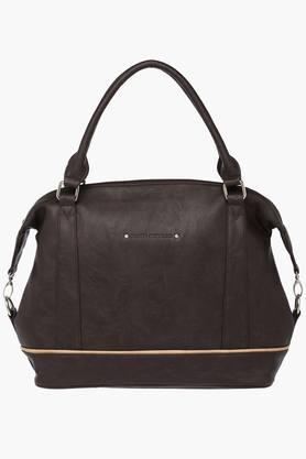 ELLIZA DONATEIN Womens Synthetic Leather Zipper Closure Tote Handbag - 202245473