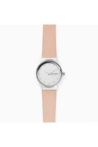 Womens Silver Dial Leather Analogue Watch - SKW2770