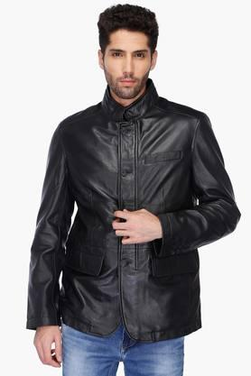 U.S. POLO ASSN. Mens Regular Fit Mao Collar Solid Jacket