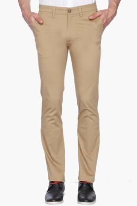 WILLS LIFESTYLE Mens 5 Pocket Solid Casual Chinos - 201463813