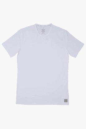 CALVIN KLEIN UNDERWEARMens Cotton Solid Short Sleeves Vest