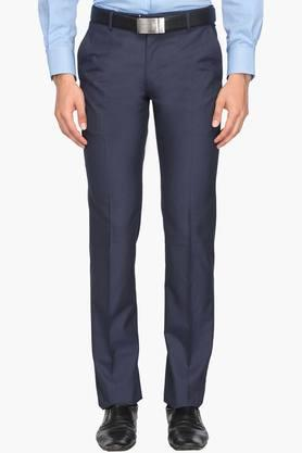 LOUIS PHILIPPEMens Regular Fit 4 Pocket Solid Formal Trousers (Contemporary Fit) - 202007760