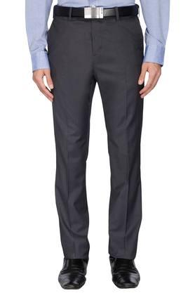 ARROW Mens Tapered Fit Slub Formal Trousers