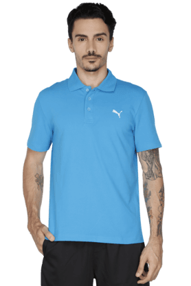 PUMA Mens Short Sleeve Solid Polo T-Shirt