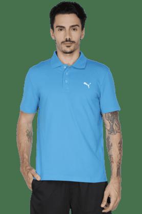 PUMAMens Short Sleeve Solid Polo T-Shirt