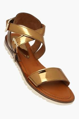 CATWALK Womens Party Wear Ankle Buckle Closure Flat Sandals