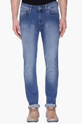 Izod Jeans (Men's) - Mens Slim Fit Heavy Wash Jeans
