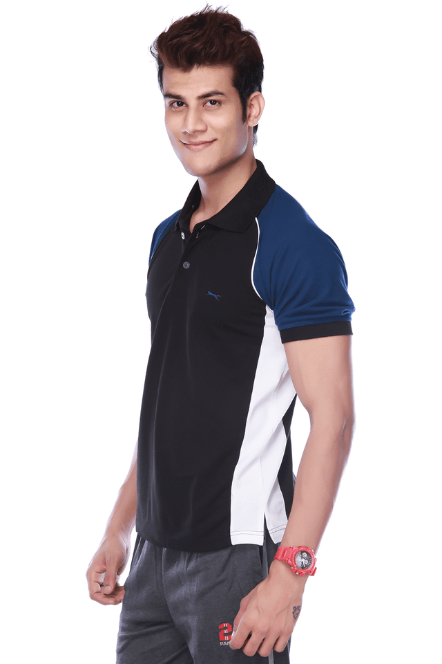 a9b386e7 Buy BLACK PANTHER Mens Short Sleeves Regular Fit Solid Polo T-Shirt ...