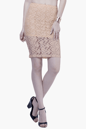 FABALLEY Womens Lace Pencil Skirt - 201560020