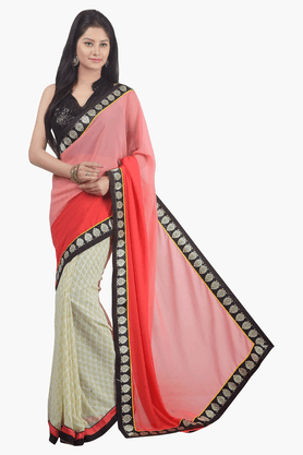 JASHN Womens Printed Saree - 201502496