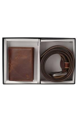 Mens Leather 1 Fold Wallet with Belt