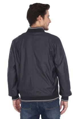 Mens Zip Through Neck Solid Reversible Jacket