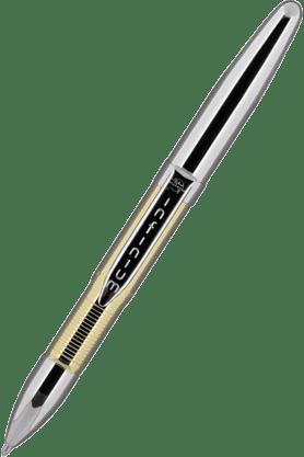 WILLIAM PENNFisher Space Pen Infinium Infgtn-4 Gold Titanium Nitride Chrome Black Ball Pen