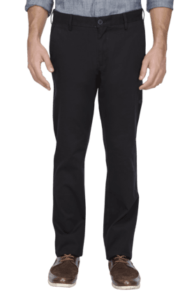 ALLEN SOLLY Mens Slim Fit Solid Chinos - 200582278