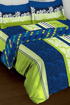 TOMATILLO Nature Pure Combo - Double Bedsheet (Set Of 3)