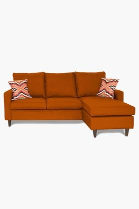 Dark Orange Water Repellent Fabric Sofa (2 Seater - 1 Lounger)