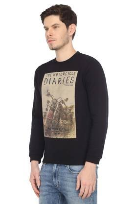 Mens Round Neck Graphic Print Sweatshirt