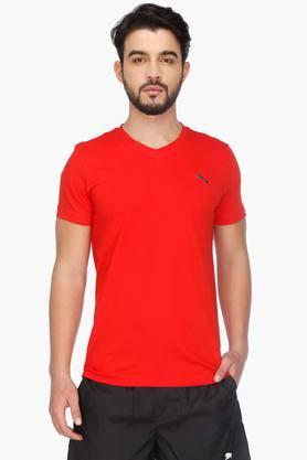 PUMA Mens Short Sleeves Round Neck Solid T-Shirt - 201583856