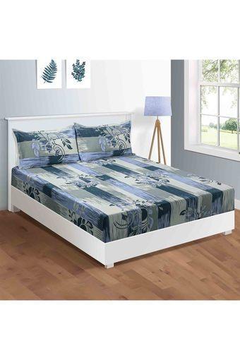 SWAYAM -  BlueSingle Bed Sheets - Main