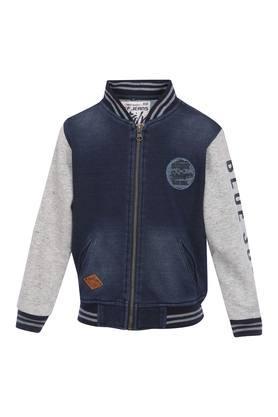 Boys Zip Through Neck Washed Jacket