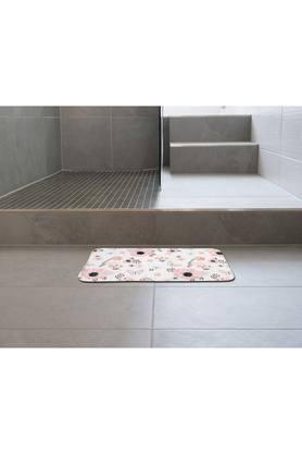 Rectangular Floral Printed Bath Mat