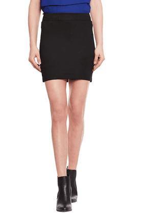 THE VANCAWomens Slim Fit Solid Skirt - 201424905
