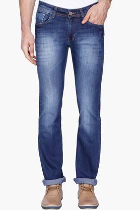 HIZ & HERZMens Straight Mid Wash Jeans