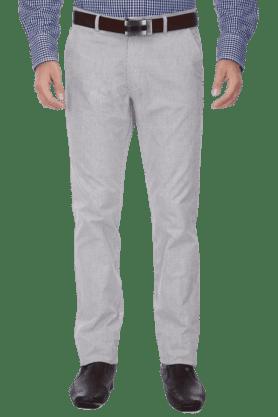 VETTORIO FRATINIMens Flat Front Slim Fit Stripe Trouser
