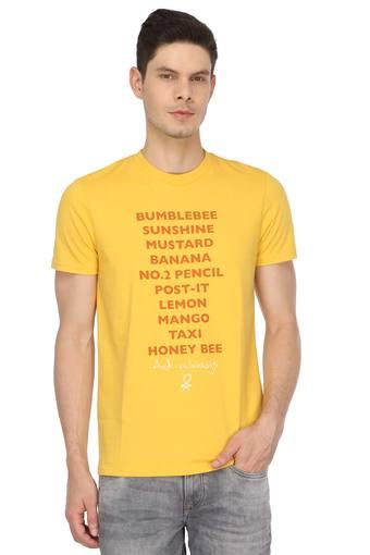 UNITED COLORS OF BENETTON -  YellowT-shirts - Main