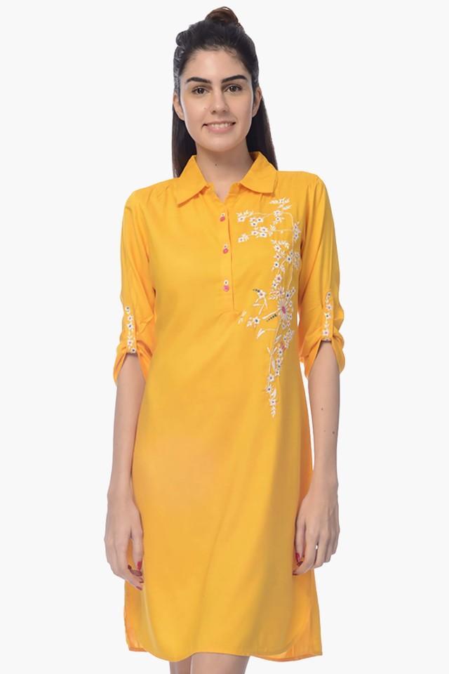 Womens Collared Printed Shirt Dress
