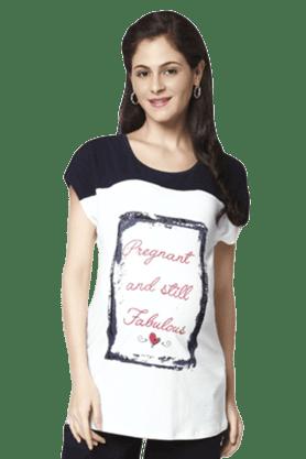 """NINE MATERNITYPregnant & Still Fabulous Tee"""" Slogan Maternity Tee"""