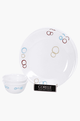 CORELLE Circle 4 Pcs Bachelor Dinner Set