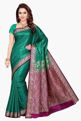 ISHINWomens Poly Silk Brocade Saree - 201628889