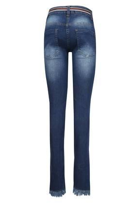 Girls 5 Pocket Patch Work Jeans
